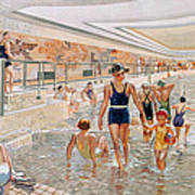 View Of The First Class Swimming Pool Art Print