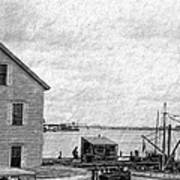 View Of The Harbor Art Print