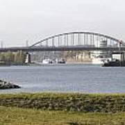 View Of The John Frost Bridge In Arnhem Netherlands Art Print
