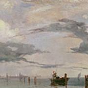 View Of The Lagoon Near Venice, 1826  Art Print