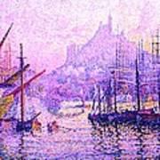 View Of The Port Of Marseilles Enhanced Color Iv Art Print