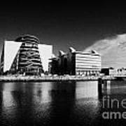 View Of The River Liffey And The Convention Centre Dublin Republic Of Ireland Art Print by Joe Fox