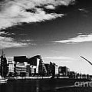 View Of The Samuel Beckett Bridge Over The River Liffey And The Convention Centre Dublin Republic Of Art Print