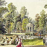 View Of The Temple Of Diana At Erlaw Art Print