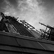 View Of The Top Of The Empire State Building Radio Mast New York City Art Print