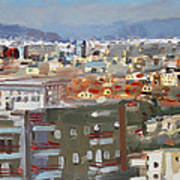 View Of Tirana From Dajti Mountain Art Print