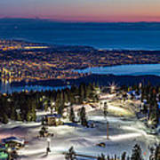 View Of Vancouver City From Grouse Mountain Art Print