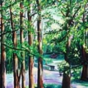 View Of Woodside Lake Art Print