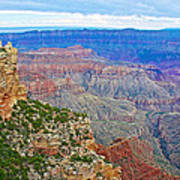 View Three From Walhalla Overlook On North Rim Of Grand Canyon-arizona  Art Print