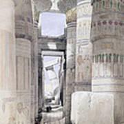 View Through The Hall Of Columns Art Print by David Roberts