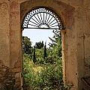 View Through The Monastery Window Art Print