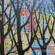 View Through The Park Art Print