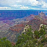 View Two From Walhalla Overlook On North Rim Of Grand Canyon-arizona Art Print