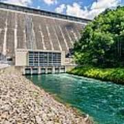 Views Of Man Made Dam At Lake Fontana Great Smoky Mountains Nc Art Print