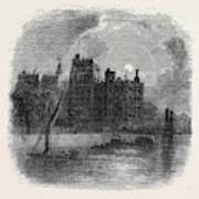 Views On The Embankment, London, 1870 Art Print