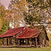 Viintage Cabin Art Print by Debra and Dave Vanderlaan