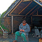 Viking Fisherman At L'anse Aux Meadows-nl  Art Print