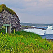 Viking House On Fishing  Point In Saint Anthony-nl Art Print