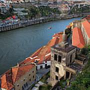Vila Nova De Gaia And Porto In Portugal Art Print