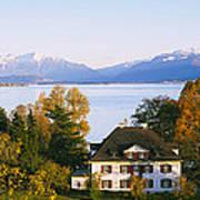 Villa At The Waterfront, Lake Zurich Art Print