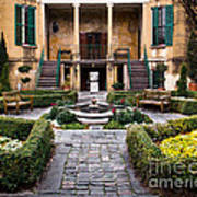 Villa Courtyard Art Print