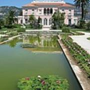 Villa Ephrussi De Rothschild With Reflection Art Print