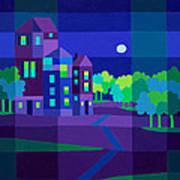Villa Night Art Print