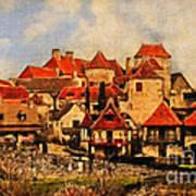 Village De Fleuris Art Print
