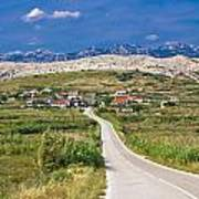 Village Gorica Island Of Pag Art Print