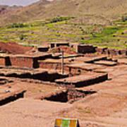 Village In Atlas Mountains In Morocco Art Print