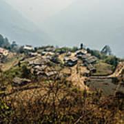 Village In Sikkim Art Print