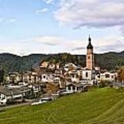 Village In The Dolomites Art Print