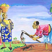 Village Life In Cameroon 01 Art Print