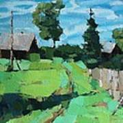 Village Meadow Art Print