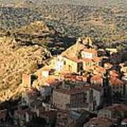 Village Of Speloncatu In Corsica Art Print