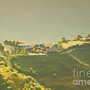 Village On Mountain Art Print