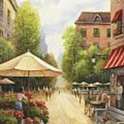 Village Scene Art Print by John Zaccheo