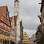 Village Scene Rothenburg Ob Der Tauber Art Print