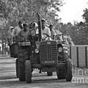 Village Tractor  Art Print by Bobby Mandal