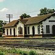 Villisca Train Depot Art Print