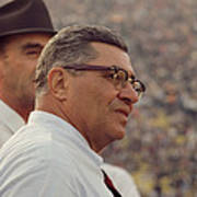Vince Lombardi Coaching Art Print