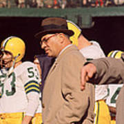 Vince Lombardi In Trench Coat Art Print