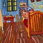 Vincents Bedroom In Arles For Surfers-amadeus Series Art Print