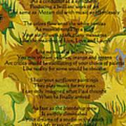 Vincent's Sunflower Song Art Print