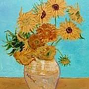 Vincent's Sunflowers Art Print