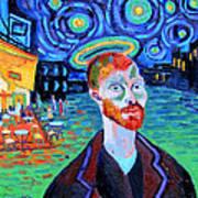 Vincents' Yellow Cafe Art Print