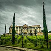 Vineyards And Chateau Art Print by Fabio Giannini