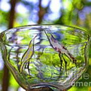 Vinsanchi Glass Art-4 Art Print by Vin Kitayama
