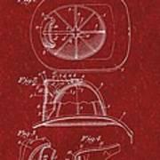 Vintage 1932 Firemans Helmet Patent Art Print