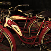 Vintage 1941 Boys And 1946 Girls Bicycle 5d25760 Sepia2 Art Print